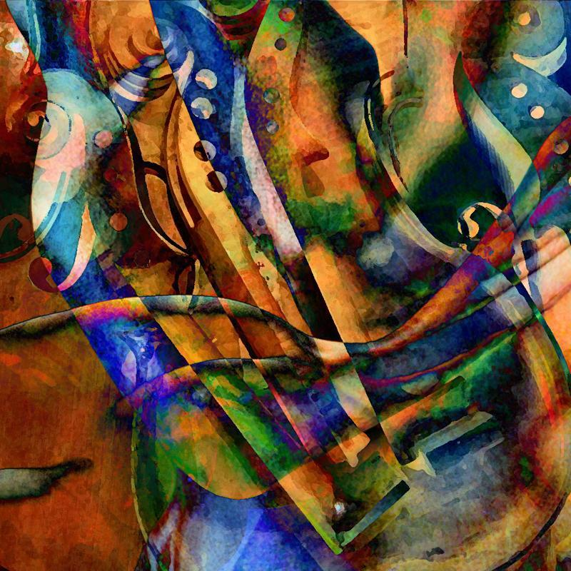 Boris Novak Music instruments mixed media digital collage visual art