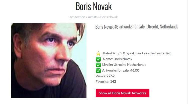 art section com promoting boris novak