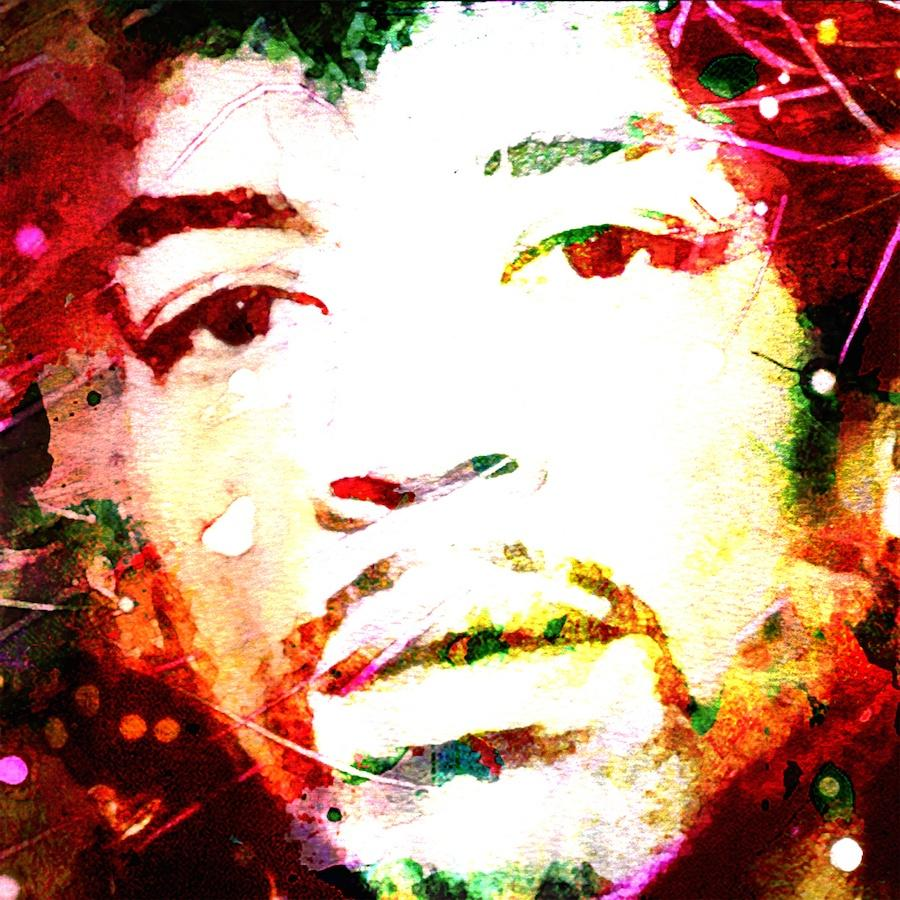 Jimi Hendrix Portrait Art Painting