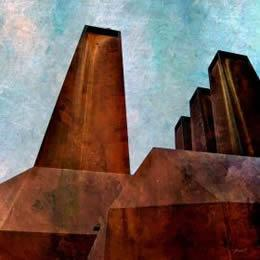 Power Station Digital Art, Size: 50 × 50cm