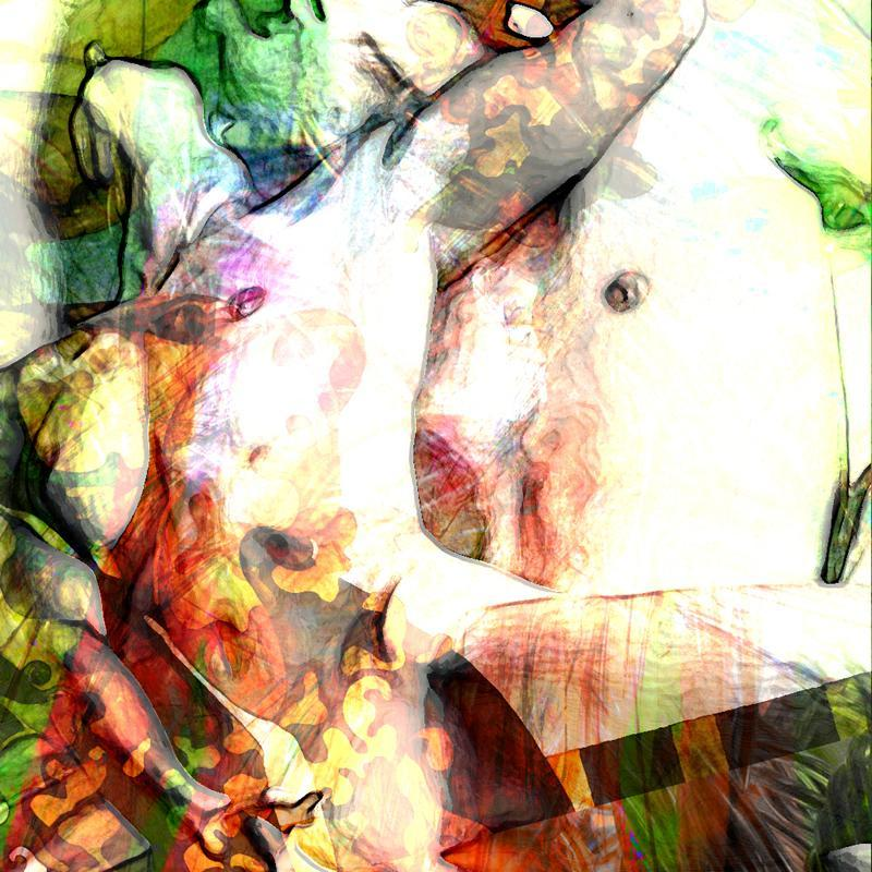 digital collage art sexual game